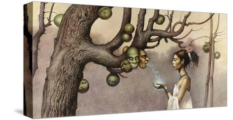 Event Illustrates the Conception of the Hero Twins-John Jude Palencar-Stretched Canvas Print