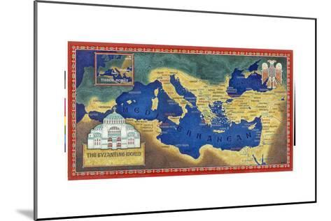 An Artist's Recreation of the Byzantine Empire under Justinian I-Jean-Leon Huens-Mounted Giclee Print