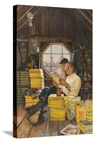 James Gurney Illustrates a Promotion of the One Hundred Years Index-James M. Gurney-Stretched Canvas Print