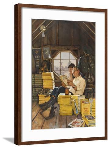 James Gurney Illustrates a Promotion of the One Hundred Years Index-James M. Gurney-Framed Art Print