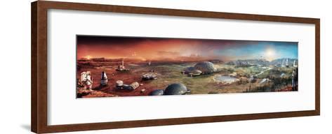 Depiction of Terraforming Transformation of Mars' Surface-Stephan Morrell-Framed Art Print