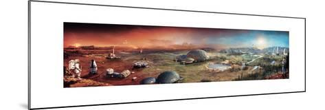Depiction of Terraforming Transformation of Mars' Surface-Stephan Morrell-Mounted Giclee Print