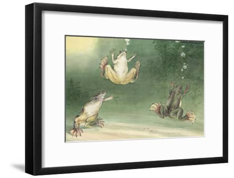 The Aglossa Frogs are Aquatic, Coming Up for Air Every Few Minutes-Hashime Murayama-Framed Art Print