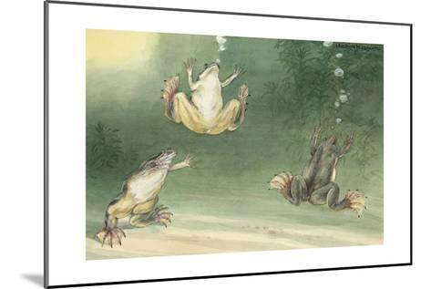 The Aglossa Frogs are Aquatic, Coming Up for Air Every Few Minutes-Hashime Murayama-Mounted Giclee Print
