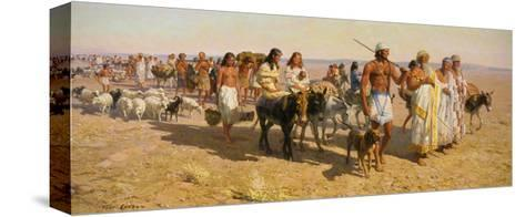 Young Abram Travels with Family Up Euphrates Valley-Tom Lovell-Stretched Canvas Print