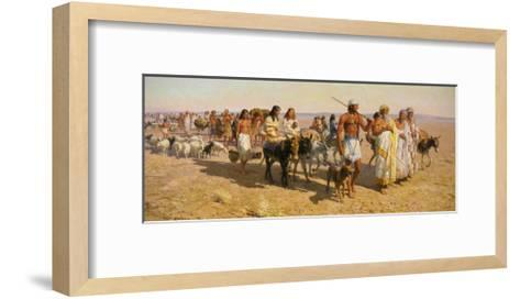 Young Abram Travels with Family Up Euphrates Valley-Tom Lovell-Framed Art Print