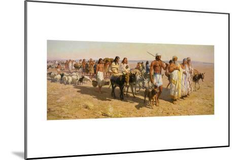 Young Abram Travels with Family Up Euphrates Valley-Tom Lovell-Mounted Giclee Print