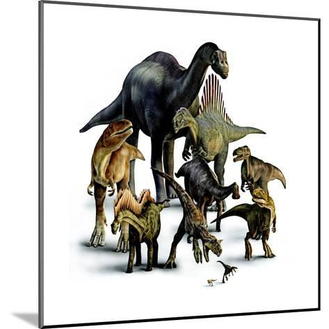 A Composite of Dinosaurs That Lived in the Southern Hemisphere-Pixeldust Studios-Mounted Giclee Print