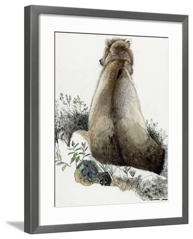 Illustration of a Grizzly Bear in the Arctic National Wildlife Refuge-Jack Unruh-Framed Art Print