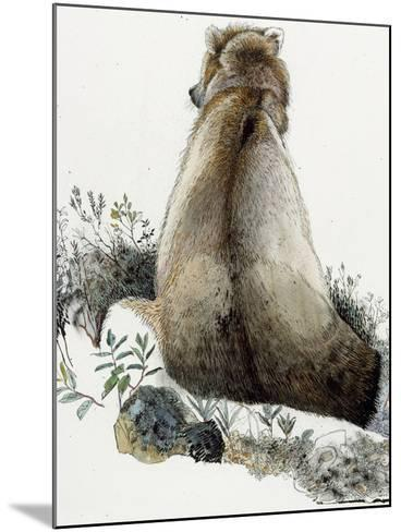 Illustration of a Grizzly Bear in the Arctic National Wildlife Refuge-Jack Unruh-Mounted Giclee Print