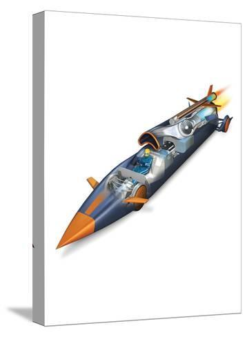 The Bloodhounds Supersonic Car-Don Foley-Stretched Canvas Print
