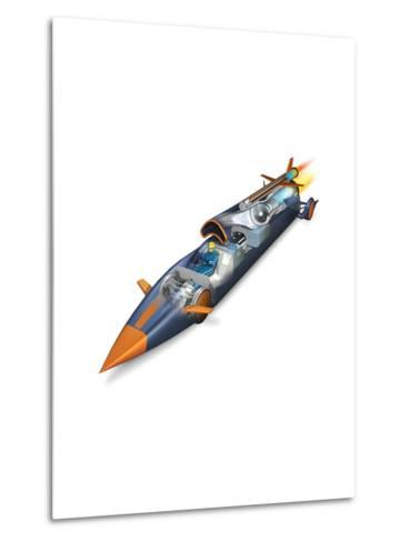 The Bloodhounds Supersonic Car-Don Foley-Metal Print