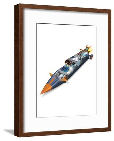 The Bloodhounds Supersonic Car-Don Foley-Framed Art Print