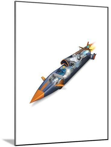 The Bloodhounds Supersonic Car-Don Foley-Mounted Giclee Print