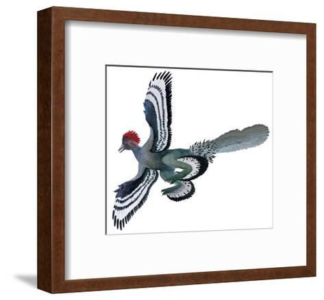 Color Depictions in an Anchiornis Feathered Dinosaur-Xing Lida-Framed Art Print