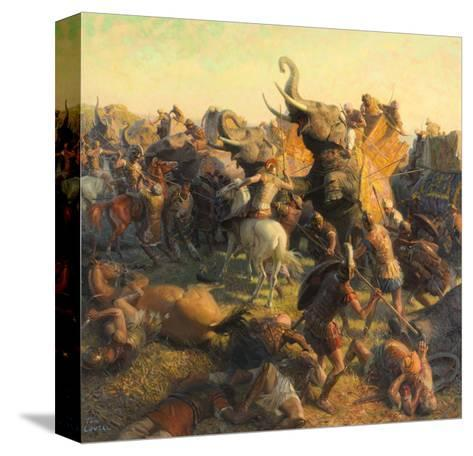 A Painting Depicts Alexander the Great Battling an Indian Army-Tom Lovell-Stretched Canvas Print
