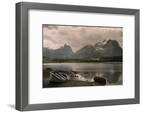 A View of Troldtinder Mountain-Gustav Heurlin-Framed Art Print