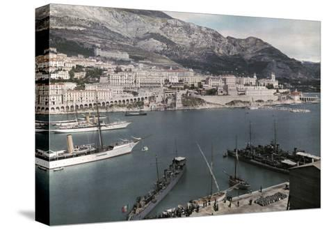 A View of Monte Carlo from the Rock of Monaco-Hans Hildenbrand-Stretched Canvas Print