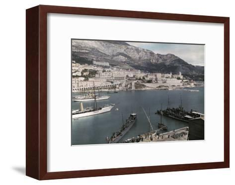 A View of Monte Carlo from the Rock of Monaco-Hans Hildenbrand-Framed Art Print