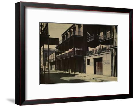 A View of a Street in the French Quarter-Edwin L^ Wisherd-Framed Art Print