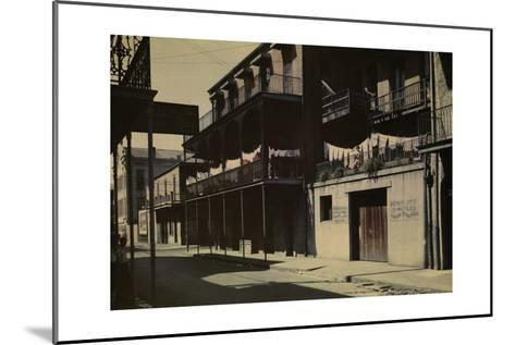 A View of a Street in the French Quarter-Edwin L^ Wisherd-Mounted Photographic Print