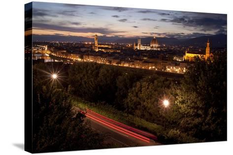 A View of Florence from Piazzale Michelangelo at Dusk-Tino Soriano-Stretched Canvas Print
