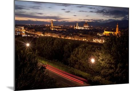 A View of Florence from Piazzale Michelangelo at Dusk-Tino Soriano-Mounted Photographic Print