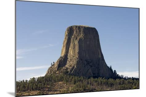 A Scenic View of the Devil's Tower in Warm Sunlight-Sergio Pitamitz-Mounted Photographic Print