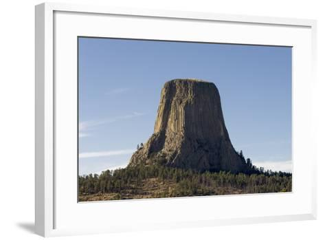 A Scenic View of the Devil's Tower in Warm Sunlight-Sergio Pitamitz-Framed Art Print