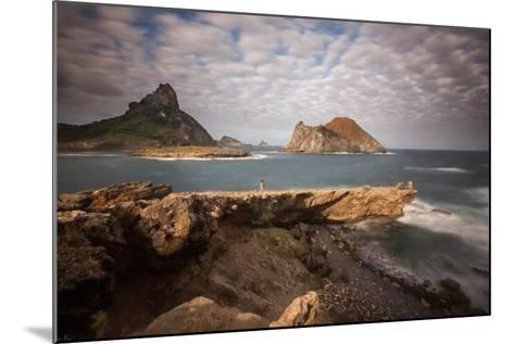 A Woman Stares Out at the Dramatic Landscape of Praia Do Sueste on Fernando De Noronha-Alex Saberi-Mounted Photographic Print