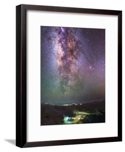 The Milky Way Towards the Bright Central Bulge in the Constellations Scorpius and Sagittarius-Babak Tafreshi-Framed Art Print