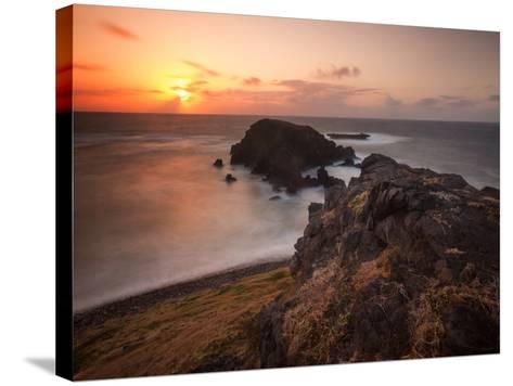 Long Exposure of Buraco Da Raquel Rock Formation on Fernando De Noronha at Sunrise-Alex Saberi-Stretched Canvas Print
