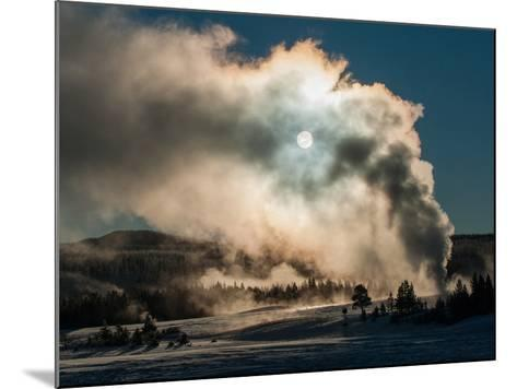 Vapor from Old Faithful Rises More Than Two Hundred Feet to Partially Obscure the Sun-Tom Murphy-Mounted Photographic Print