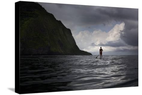 Stand Up Paddle Boarding in Waipi'O Bay-Chris Bickford-Stretched Canvas Print