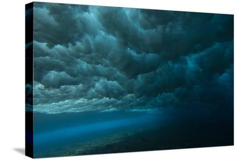 Underwater View of Churning Surf-Andy Bardon-Stretched Canvas Print