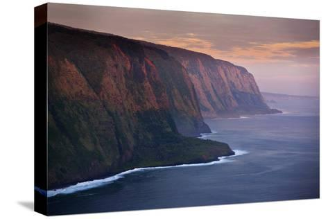The Cliffs Above Waipi'O Bay at Sunrise-Chris Bickford-Stretched Canvas Print