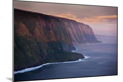The Cliffs Above Waipi'O Bay at Sunrise-Chris Bickford-Mounted Photographic Print