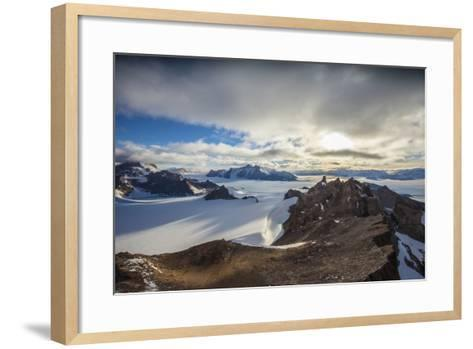 The Wohlthat Mountains in Antarctica's Queen Maud Land-Cory Richards-Framed Art Print
