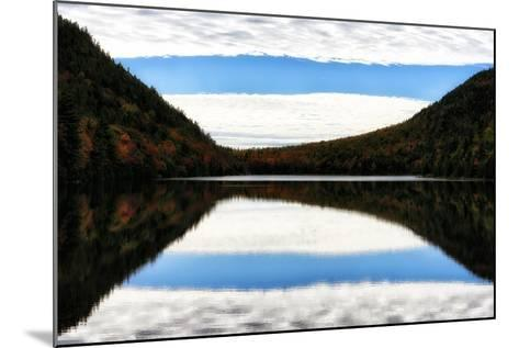 Clouds and Forests in Autumn Colors Reflected in the Calm Surface of a Lake-Robbie George-Mounted Photographic Print
