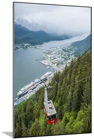 A High Angle View of the Mount Roberts Tramway Above the City of Juneau-Jonathan Kingston-Mounted Photographic Print