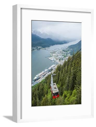 A High Angle View of the Mount Roberts Tramway Above the City of Juneau-Jonathan Kingston-Framed Art Print