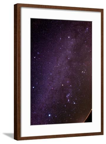 The Milky Way and Winter Stars in the Northern Hemisphere, Sirius at Lower Left, Orion at Lower Rig-Babak Tafreshi-Framed Art Print