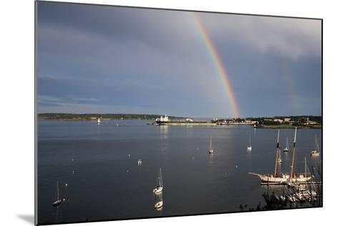 A Double Rainbow Falls over South Portland, Maine on a Summer Day-Robbie George-Mounted Photographic Print