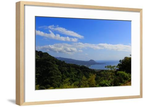 A View from the Mountains in the North of Dominica Island Toward the Town of Portsmouth-Roff Smith-Framed Art Print