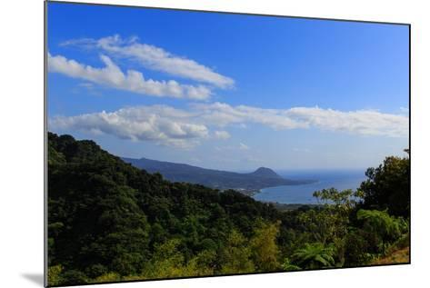 A View from the Mountains in the North of Dominica Island Toward the Town of Portsmouth-Roff Smith-Mounted Photographic Print