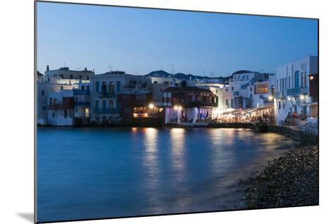 A Night View of the Little Venice Neighborhood on the Coast of the Aegean Sea-Sergio Pitamitz-Mounted Photographic Print
