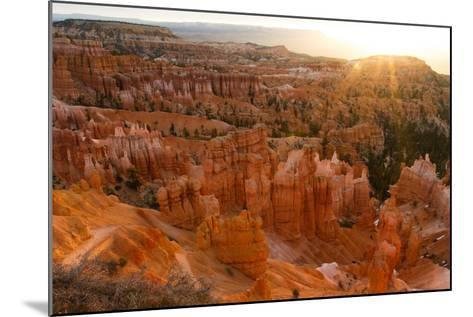 Sunrise Behind the Hoodoos and Spires in Bryce Canyon-Greg Winston-Mounted Photographic Print