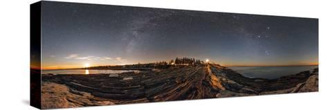 The Milky Way Photographed in a 360-Degree Panorama During Moonset over the Atlantic-Babak Tafreshi-Stretched Canvas Print