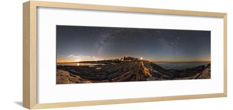 The Milky Way Photographed in a 360-Degree Panorama During Moonset over the Atlantic-Babak Tafreshi-Framed Art Print
