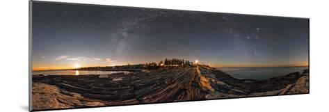 The Milky Way Photographed in a 360-Degree Panorama During Moonset over the Atlantic-Babak Tafreshi-Mounted Photographic Print